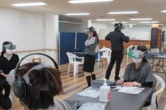 VR(バーチャルリアリティー)をもちいた認知症体験会